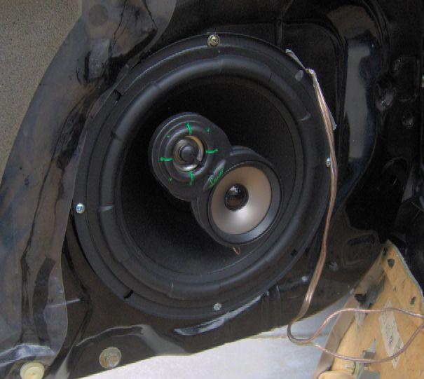 Lanzar VX830 Speaker installed in the driver-side door